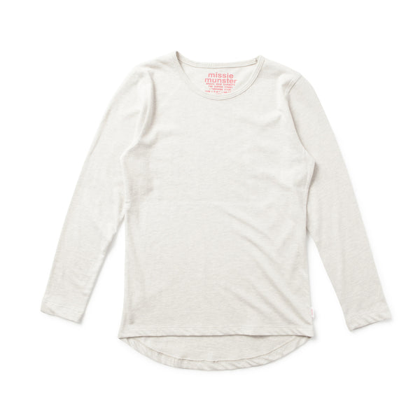 Missie Munster - Girls P Jane Oatmeal Marle Top - Bon Bon Tresor