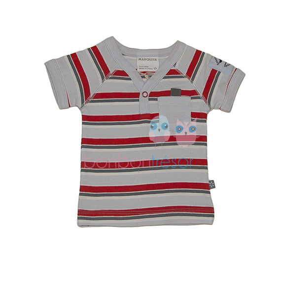 Marquise - Baby Boy Stripe V-Neck Top | Tops & T-Shirts | Bon Bon Tresor