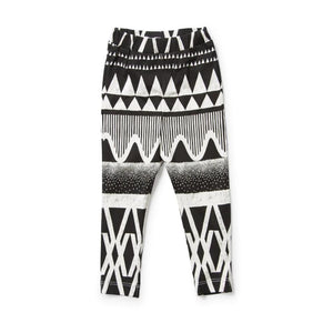 Lil Missie Munster - Baby Girl Black And White Ripple Leggings | Pants & Shorts | Bon Bon Tresor