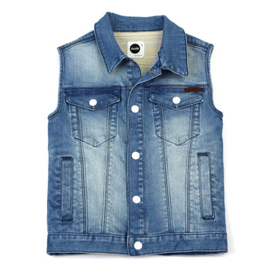 Sudo Kids - Boys True Denim Vest | Coats & Jackets | Bon Bon Tresor