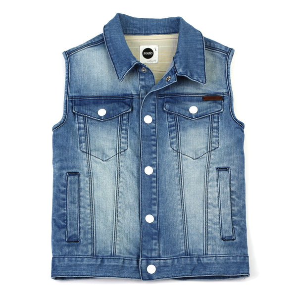 Sudo Kids - Boys True Denim Vest - Bon Bon Tresor - 1