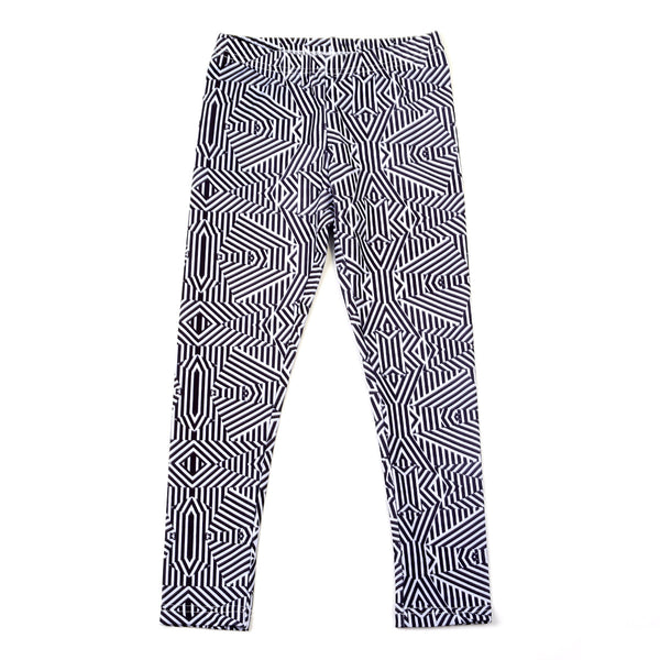 Sudo Kids - Girls Monochrome Lifetime Leggings - Bon Bon Tresor - 1