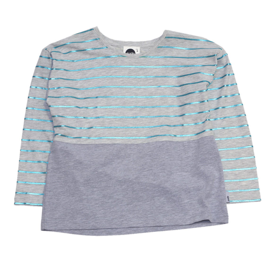 Sudo Kids - Girls Stripe Long Sleeve Shine On Top | Tops & T-Shirts | Bon Bon Tresor