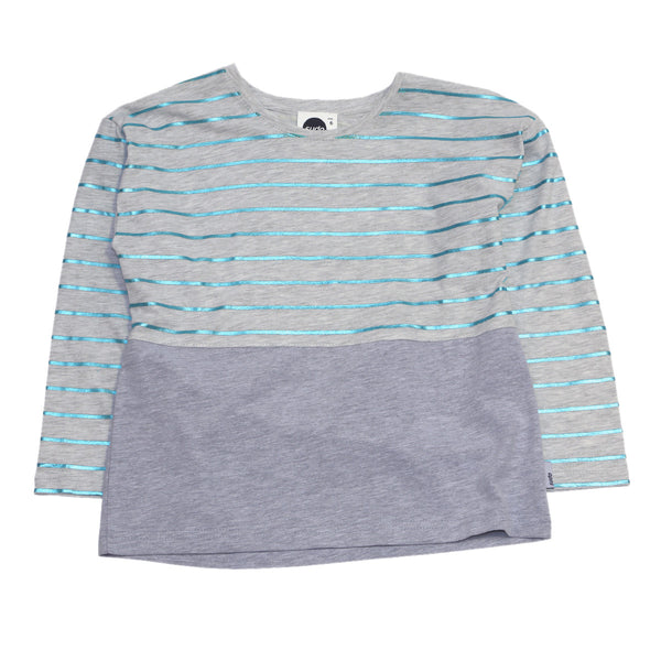 Sudo Kids - Girls Stripe Long Sleeve Shine On Top - Bon Bon Tresor - 1