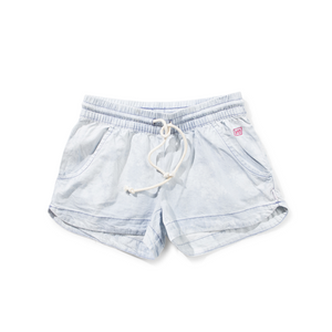 Missie Munster - Girls Bleach Blue Snow Shorts | Pants & Shorts | Bon Bon Tresor
