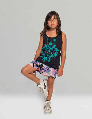 Missie Munster - Girls Black Reflection Singlet Top | Tops & T-Shirts | Bon Bon Tresor