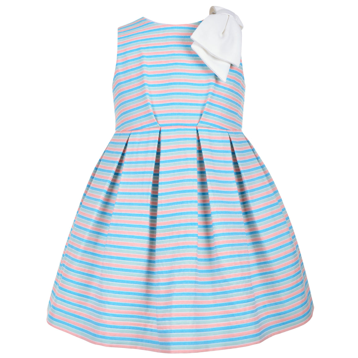 Hucklebones - Girls Beach Stripe Bodice Dress | Party Dresses | Bon Bon Tresor