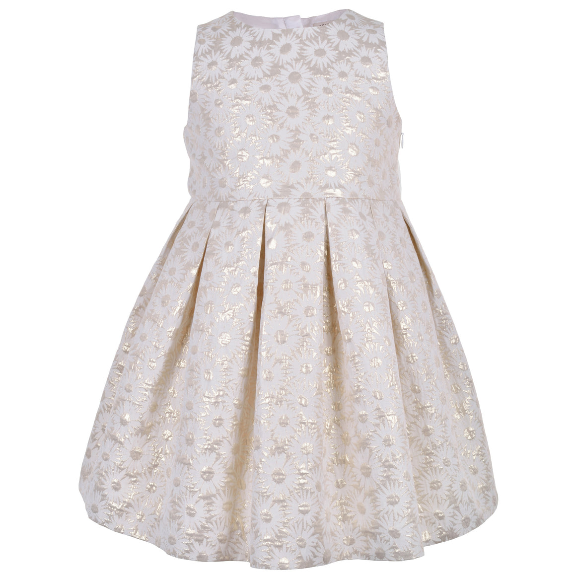 Hucklebones - Girls Metallic Daisy Bodice Dress | Party Dresses | Bon Bon Tresor