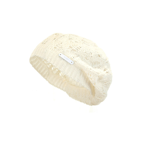 Sudo Kids - Girls Cream Knit Beanie Hat - Bon Bon Tresor - 1