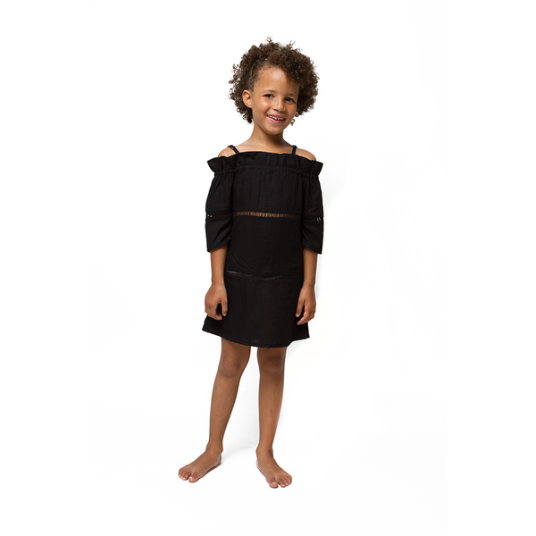 Sunny + Finn - Girls Black Sadie Dress