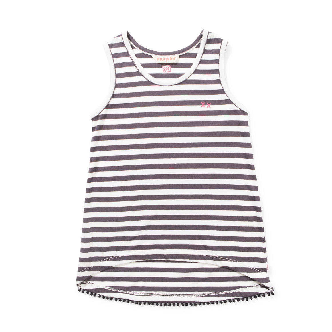 Missie Munster - Girls Stripe Triple Crosses Tee | Tops & T-Shirts | Bon Bon Tresor
