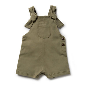 Wilson and Frenchy - Fern Green Stretch Drill Knotted Overalls | Rompers & Playsuits | Bon Bon Tresor