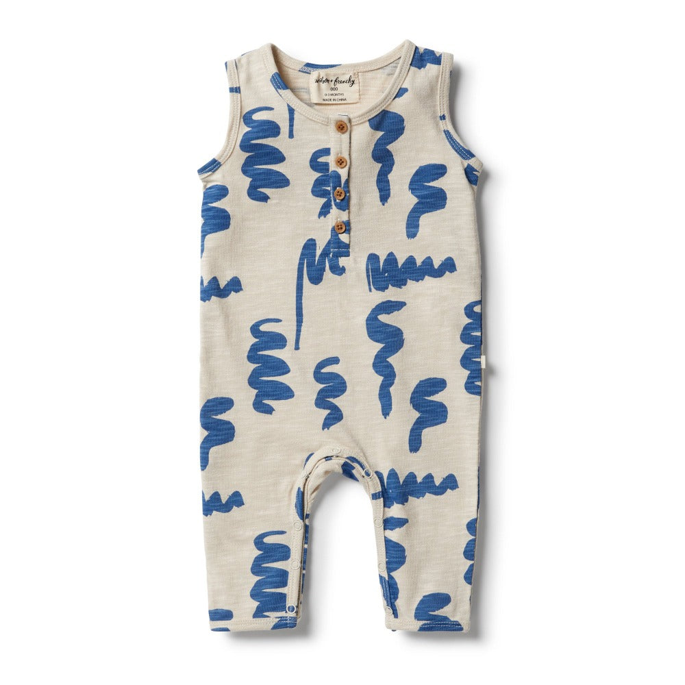 Wilson and Frenchy - Scribble Slouch Growsuit | Rompers & Playsuits | Bon Bon Tresor
