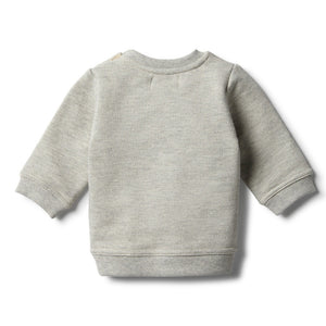 Wilson and Frenchy - Oatmeal Speckle Sweat Top | Sweaters & Knitwear | Bon Bon Tresor