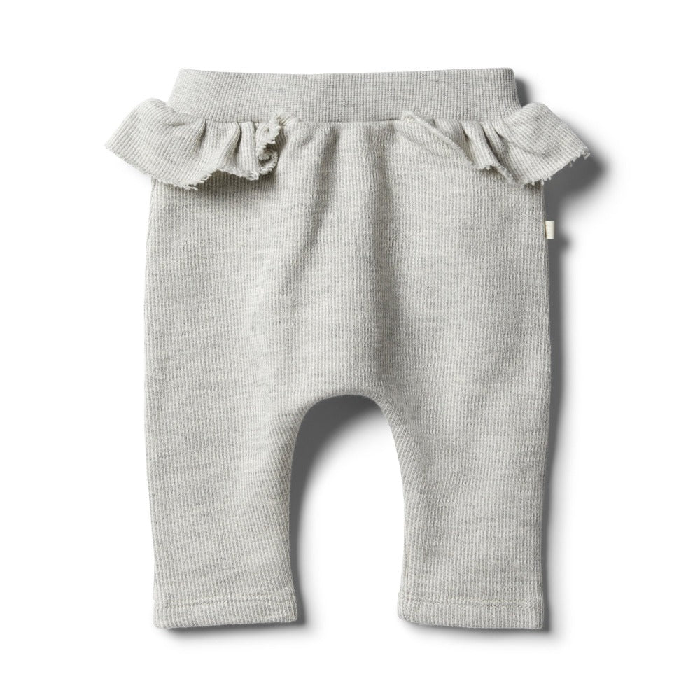 Wilson and Frenchy - Oatmeal Speckle Ruffle Sweat Pant | Pants & Shorts | Bon Bon Tresor