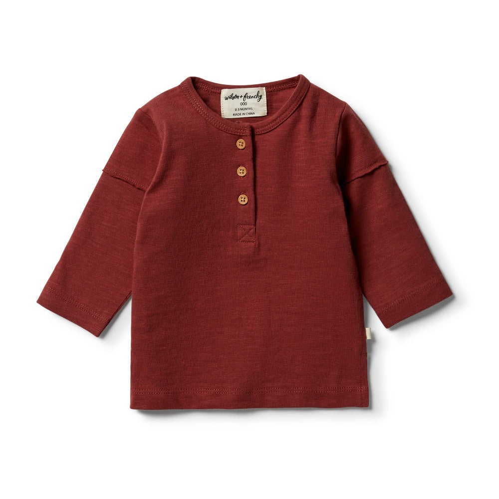 Wilson and Frenchy - Chilli Henley Top | Tops & T-Shirts | Bon Bon Tresor
