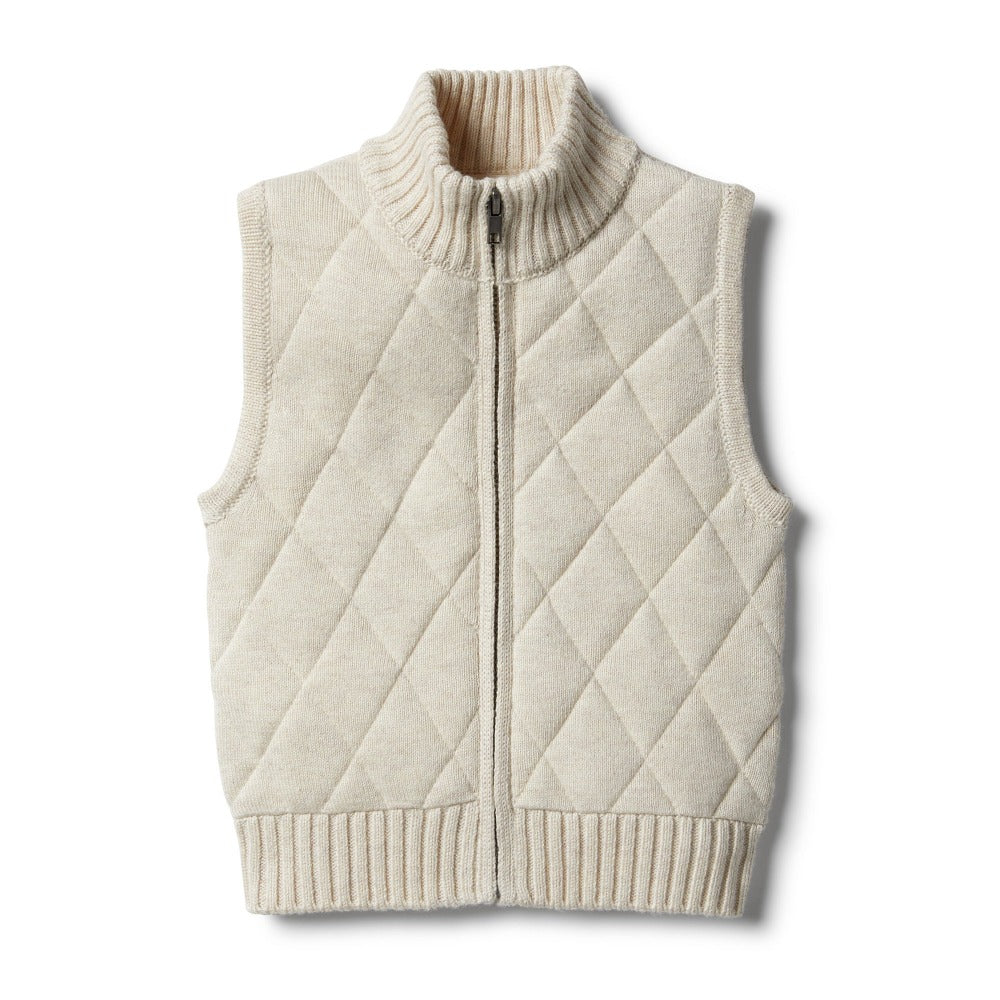 Wilson and Frenchy - Oatmeal Knitted Vest | Sweaters & Knitwear | Bon Bon Tresor