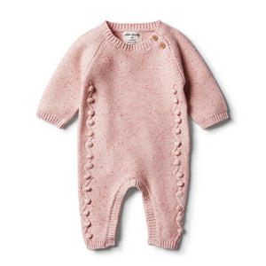 Wilson and Frenchy - Chilli Fleck Knitted Growsuit with Baubles | Rompers & Playsuits | Bon Bon Tresor