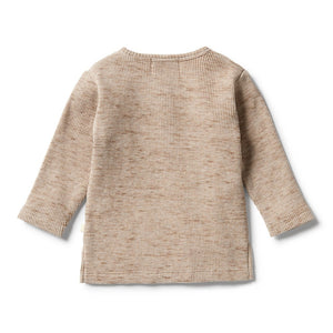 Wilson and Frenchy - Waffle Henley Top Oatmeal Fleck | Tops & T-Shirts | Bon Bon Tresor