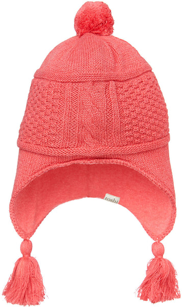Toshi - Girls Knit Earmuff Beanie Indiana Cherry