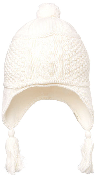 Toshi - Girls Knit Earmuff Beanie Indiana Cream