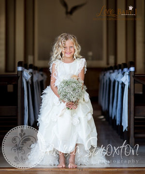 Winter Roses - A Stunning Dress With Love Baby J Train And Bustle | Special Occasion | Bon Bon Tresor