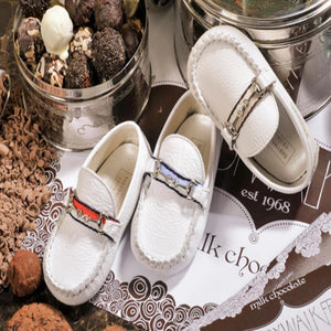 BabyWalker - Blue Moccasin Leather Shoes | Moccasins & Loafers | Bon Bon Tresor
