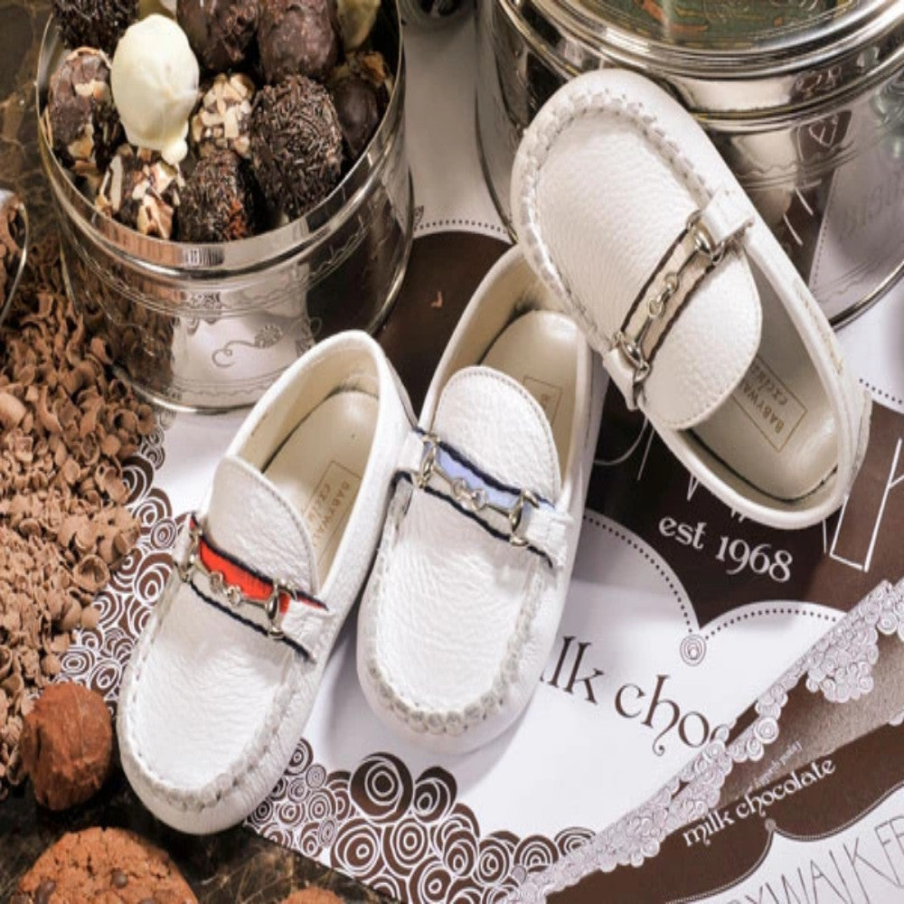 BabyWalker - Beige Moccasin Leather Shoes | Moccasins & Loafers | Bon Bon Tresor