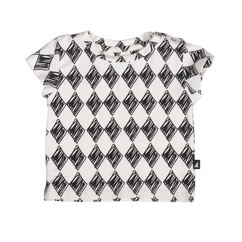 Anarkid - Harlequin Short Sleeve Tee Chalk | Tops & T-Shirts | Bon Bon Tresor