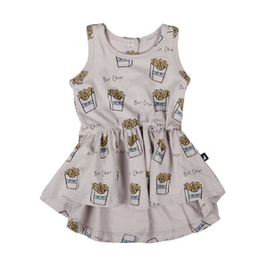Anarkid - Girls Hot Chips AOP Sleeveless Dress | Dresses & Skirts | Bon Bon Tresor