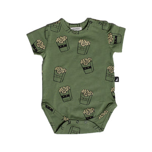 Anarkid - Baby Hot Chips AOP Bodysuit | Rompers & Playsuits | Bon Bon Tresor