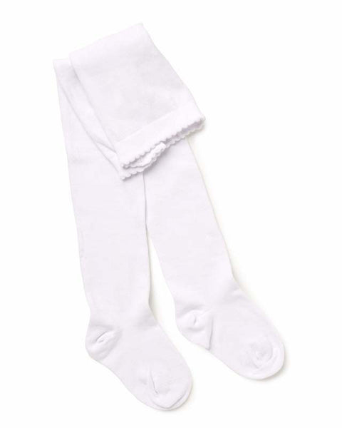 Marquise - Girls White Knitted Tights | Tights | Bon Bon Tresor