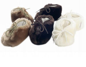 Minimink - Baby Faux Fur Bootees | Booties & Mittens | Bon Bon Tresor