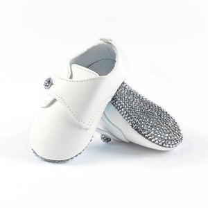 La Vera Kids - Baby Boy Clear Crystal Shoes