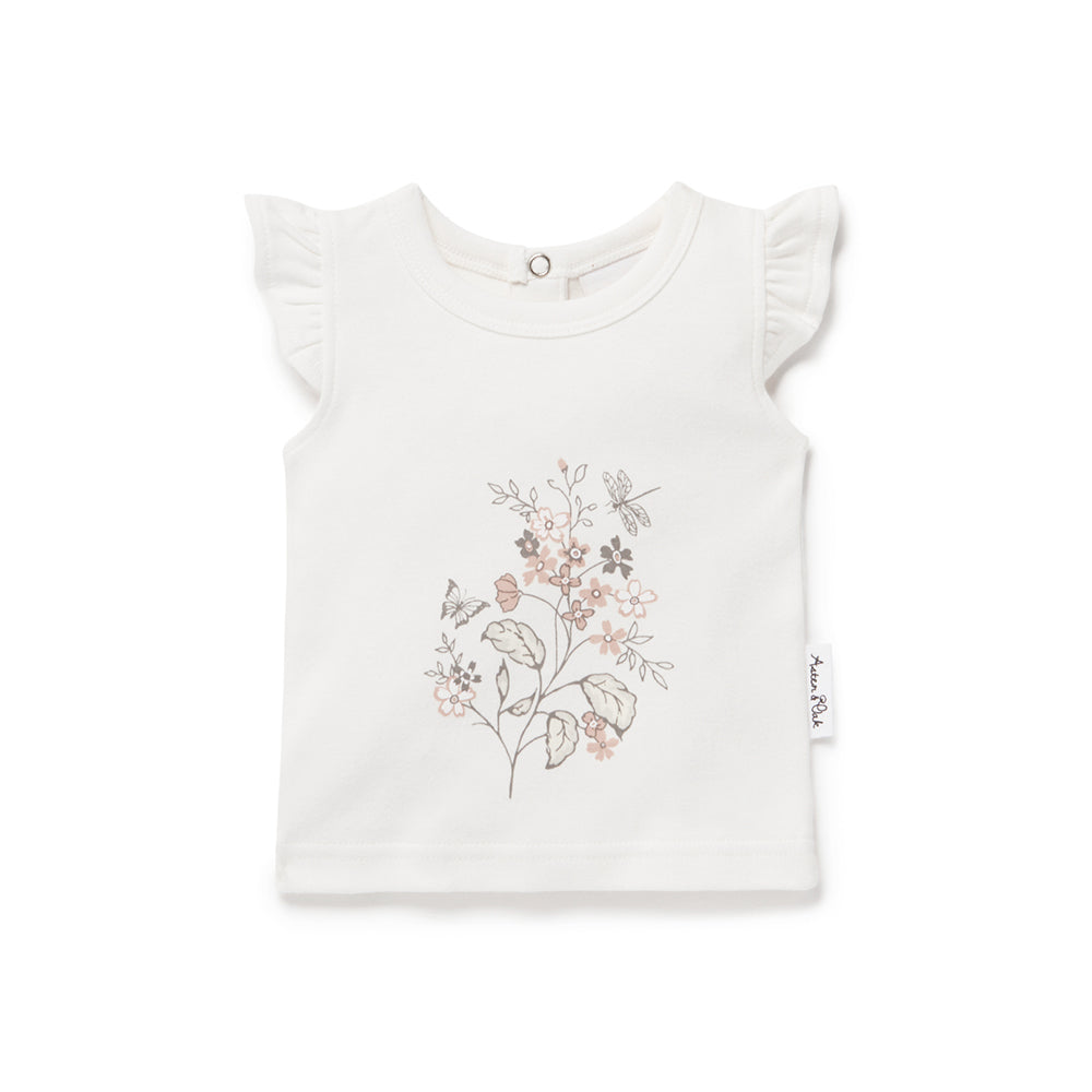 Aster and Oak - Summer Floral Print Tee | Tops & T-Shirts | Bon Bon Tresor