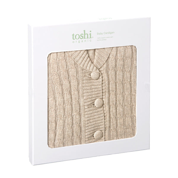Toshi - Baby Boy Neutral Organic Knit Cardigan