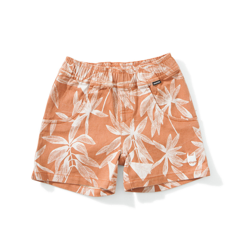 Mini Munster - Orange Plantation Shorts | Pants & Shorts | Bon Bon Tresor