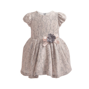 Balloon Chic - Pink and Grey Lace Party Dress | Party Dresses | Bon Bon Tresor