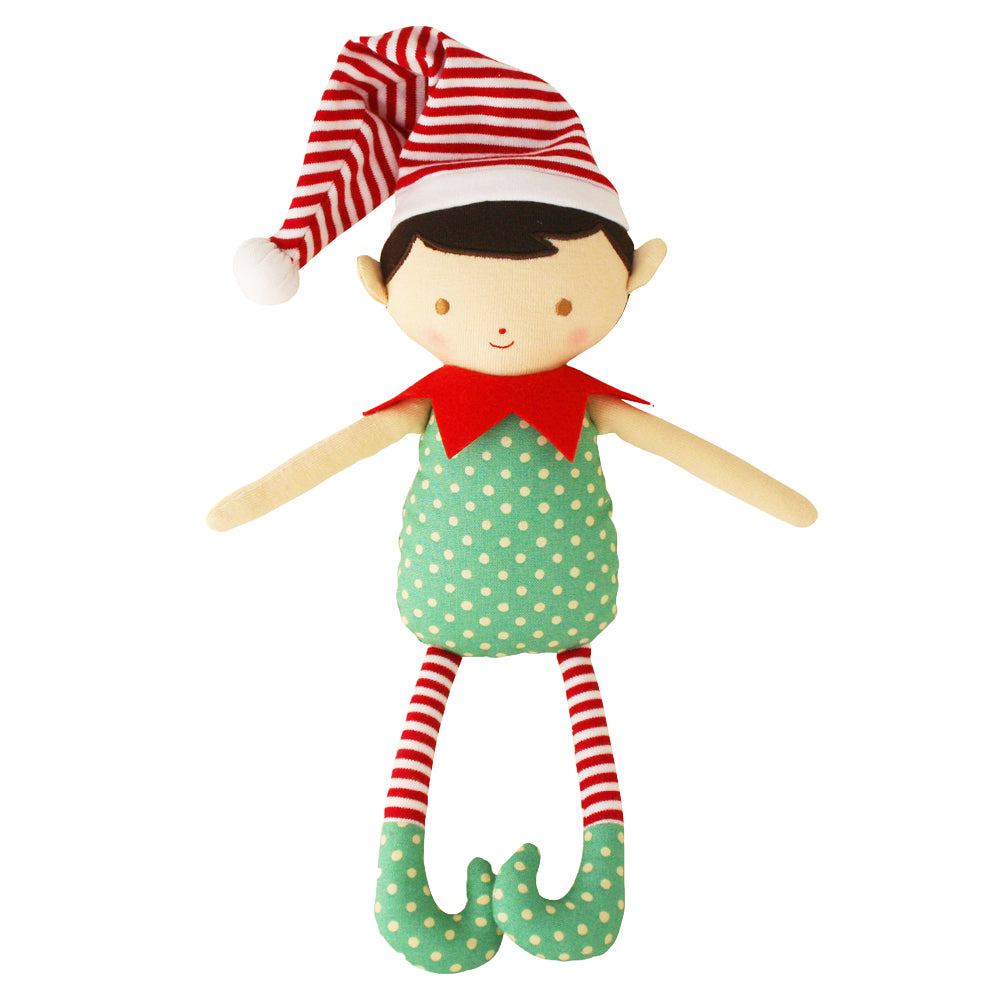 Alimrose Designs - Cheeky Boy Elf Rattle Toy | Rattles & Squeakers | Bon Bon Tresor