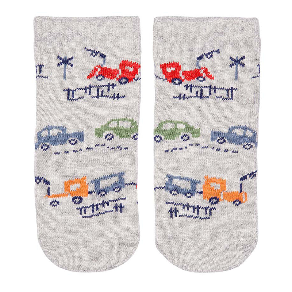 Toshi Kids - Baby Boy Broom Broom Organic Cotton Socks | Socks | Bon Bon Tresor
