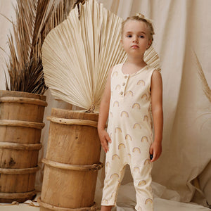 Kapow Kids - Rainbow Eggshell Jumpsuit | Rompers & Playsuits | Bon Bon Tresor