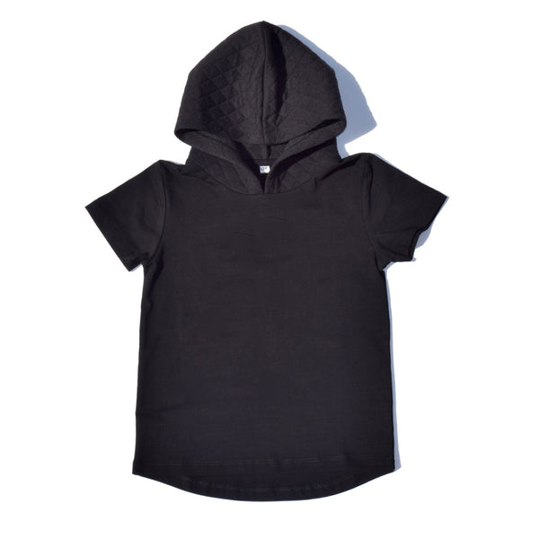 Little Lords - Boys Black Quilted Hooded Tee