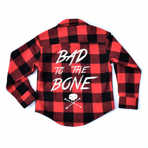 Little Lords - Bad To The Bone Flannelette Shirt | Tops & T-Shirts | Bon Bon Tresor