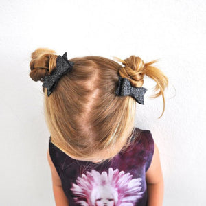 Sister Bows - Girls Assorted Glitter Bow Hair Clip | Hair Accessories | Bon Bon Tresor