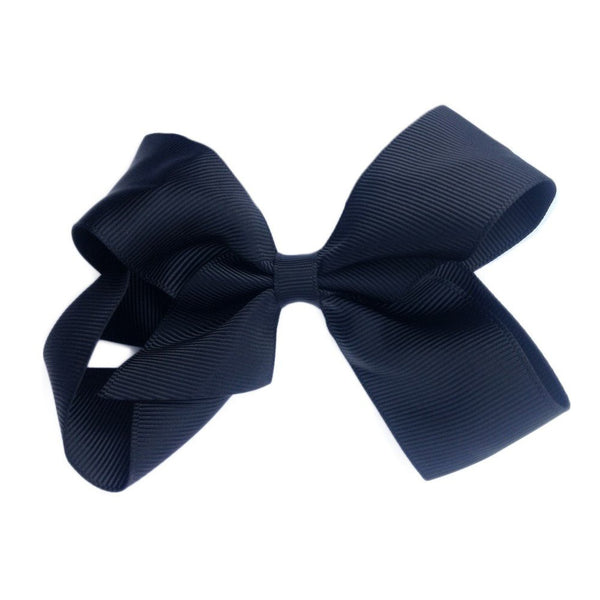 Sister Bows - Girls Black Grosgrain Bow Hair Clip | Hair Accessories | Bon Bon Tresor
