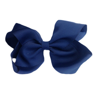 Sister Bows - Girls Navy Grosgrain Bow Hair Clip | Hair Accessories | Bon Bon Tresor
