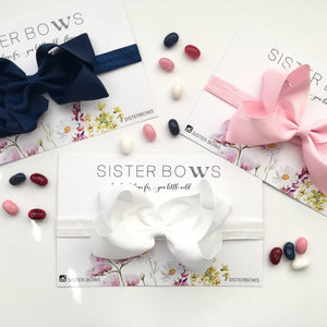 Sister Bows - Baby Girl Assorted Soft Elastic Bow Headbands | Hair Accessories | Bon Bon Tresor