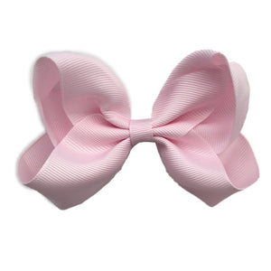 Sister Bows - Girls Blush Peonie Grosgrain Bow Hair Clip | Hair Accessories | Bon Bon Tresor