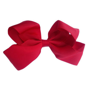 Sister Bows - Girls Rosie Red Grosgrain Bow Hair Clip | Hair Accessories | Bon Bon Tresor