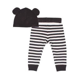 SOOKI Baby - Baby Stripe Knit Legging + Big Ear Beanie | Pants & Shorts | Bon Bon Tresor